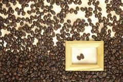 бумага кофе фасолей старая Стоковая Фотография