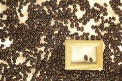 бумага кофе фасолей старая Стоковое фото RF