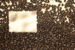 бумага кофе фасолей старая Стоковая Фотография RF