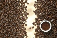 бумага кофе фасолей старая Стоковое Изображение