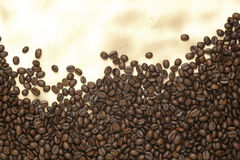 бумага кофе фасолей старая Стоковые Изображения RF