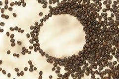 бумага кофе фасолей старая Стоковое Фото
