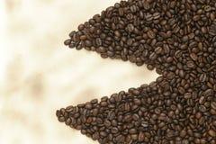 бумага кофе фасолей старая Стоковые Фото