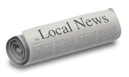 Бумага местных новостей иллюстрация штока