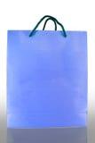бумага мешка голубая передняя отражает Стоковая Фотография