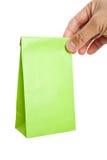 бумага мешка зеленая Стоковое Изображение RF