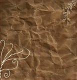 бумага многоточий предпосылки коричневая завихряется белизна Стоковые Фотографии RF