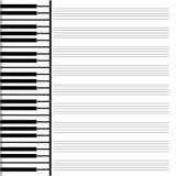 Бумага музыки Стоковые Изображения
