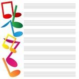 Бумага музыки Иллюстрация вектора