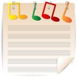 Бумага музыки Стоковые Фотографии RF