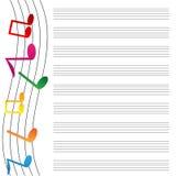 Бумага музыки Стоковое Фото