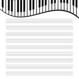 Бумага музыки Стоковое Изображение RF