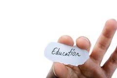 Бумага написанная образованием Стоковое Изображение RF