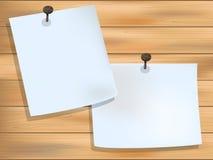 Бумага на древесине Стоковое Изображение RF