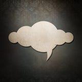 Бумага облака на тайской предпосылке картины стиля стоковое изображение