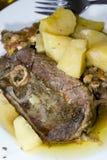 бумага овечки еды греческая Стоковое Изображение RF