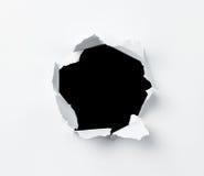 бумага отверстия стоковое изображение