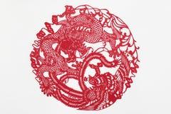 Бумага отрезка Китая вручную Стоковые Фотографии RF