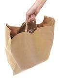 бумага пакета руки Стоковое фото RF