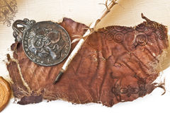 бумага пера старая Стоковое Изображение