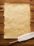 бумага пера старая Стоковая Фотография