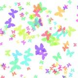 бумага подарка бабочки искусства Стоковое Изображение RF