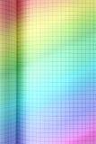 Бумага покрашенная радугой приданная квадратную форму Стоковое Фото