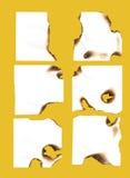 бумага померанца ожога Стоковое Изображение