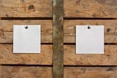 бумага предпосылки пустая деревянная Стоковая Фотография RF