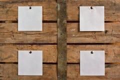 бумага предпосылки пустая деревянная Стоковое фото RF
