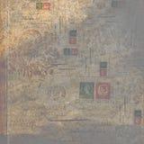Бумага предпосылки коллажа текста год сбора винограда викторианская Стоковое фото RF