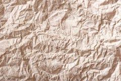 Бумага предпосылки старая сморщенная коричневая Стоковое Изображение