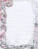 бумага примечания абстрактной предпосылки doodling Стоковое Изображение
