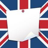 бумага примечания Великобритания Стоковое фото RF