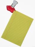 бумага примечания зажима Стоковые Изображения