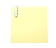 бумага примечания зажима Стоковые Изображения RF