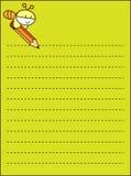 бумага примечания пчелы Стоковая Фотография