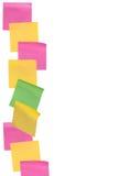 Бумага примечания ручки на изолированной белой предпосылке Стоковое Фото