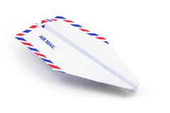 бумага принципиальной схемы самолета воздушной почты Стоковая Фотография