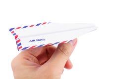 бумага принципиальной схемы самолета воздушной почты Стоковое фото RF