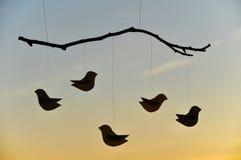 бумага птиц декоративная Стоковые Изображения