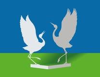 бумага птиц иллюстрация вектора
