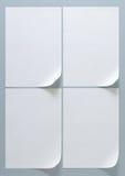 Бумага размера плана A4 рамки дизайна Стоковые Фотографии RF