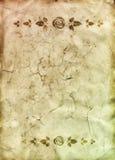 бумага рассекателей флористическая старая Стоковые Изображения RF