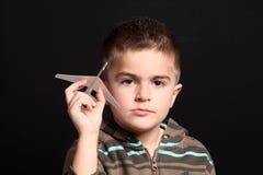 бумага ребенка самолета Стоковые Изображения