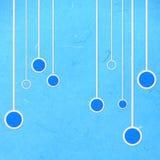 Бумага риса отрезала голубое abstact линейных и круга Стоковая Фотография RF
