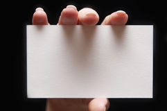 бумага руки карточки Стоковая Фотография