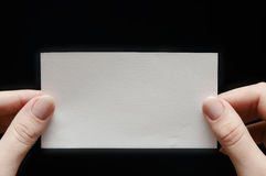 бумага руки карточки Стоковое Изображение
