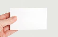 бумага руки карточки Стоковые Фото