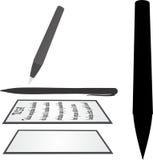 Бумага ручки Стоковое Фото